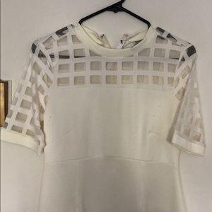 ASOS white maternity dress